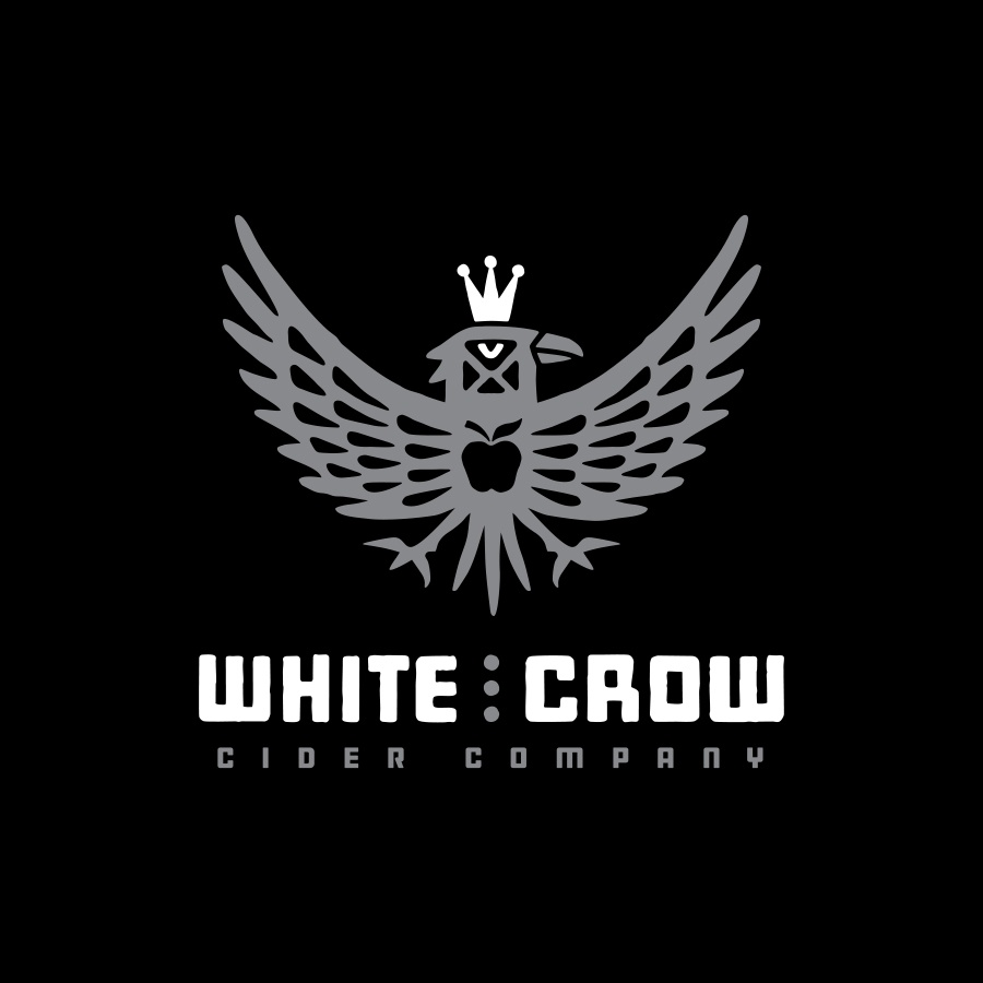 White Crow Cider Company, Logo by Chris Parks